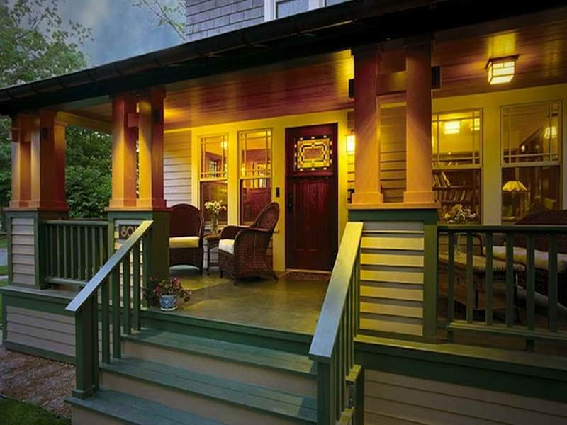 Depiction Of Front Porch Designs For Mobile Homes