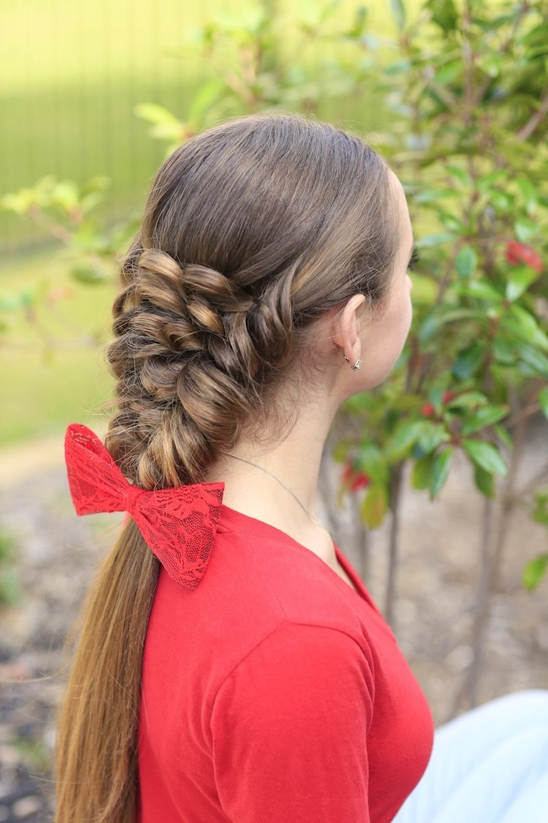 Banded puff braid hairstyles i love ponytails pinterest hair