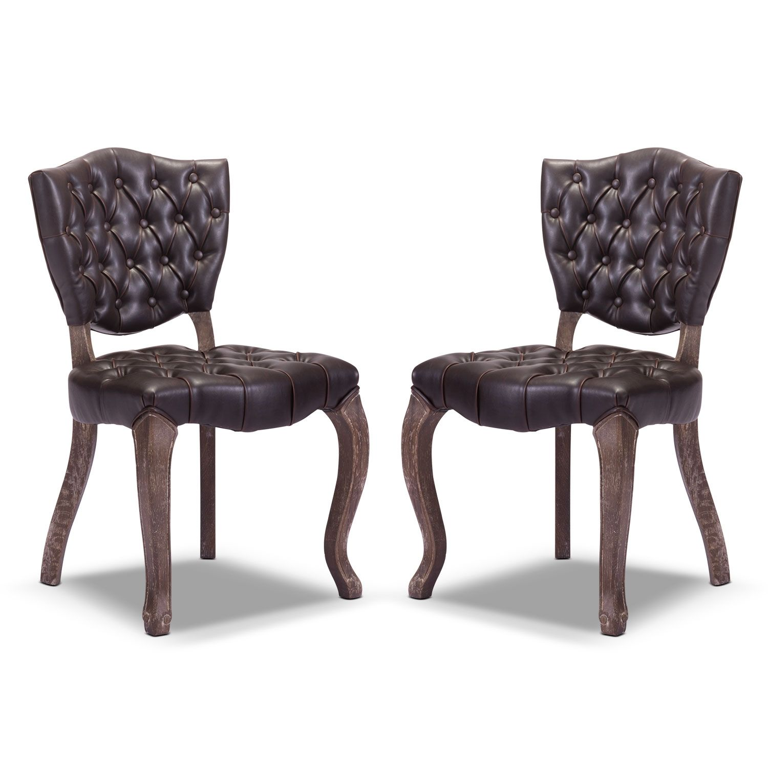 shield 2 pack chairs american signature furniture shabby chic