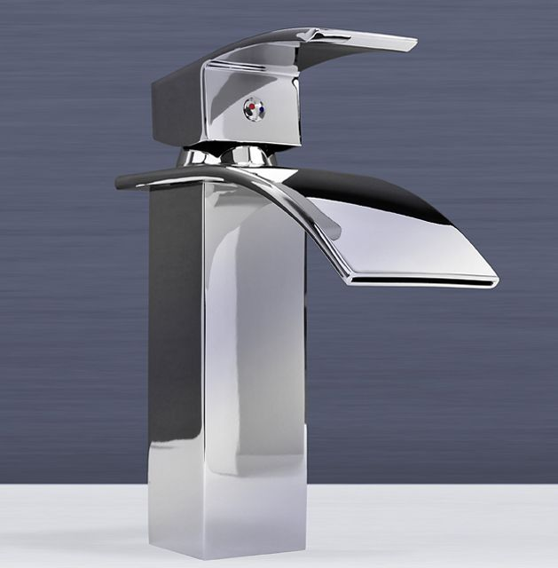 Design Waschtisch Armatur Einhandmischer Wasserfall Wasserhahn