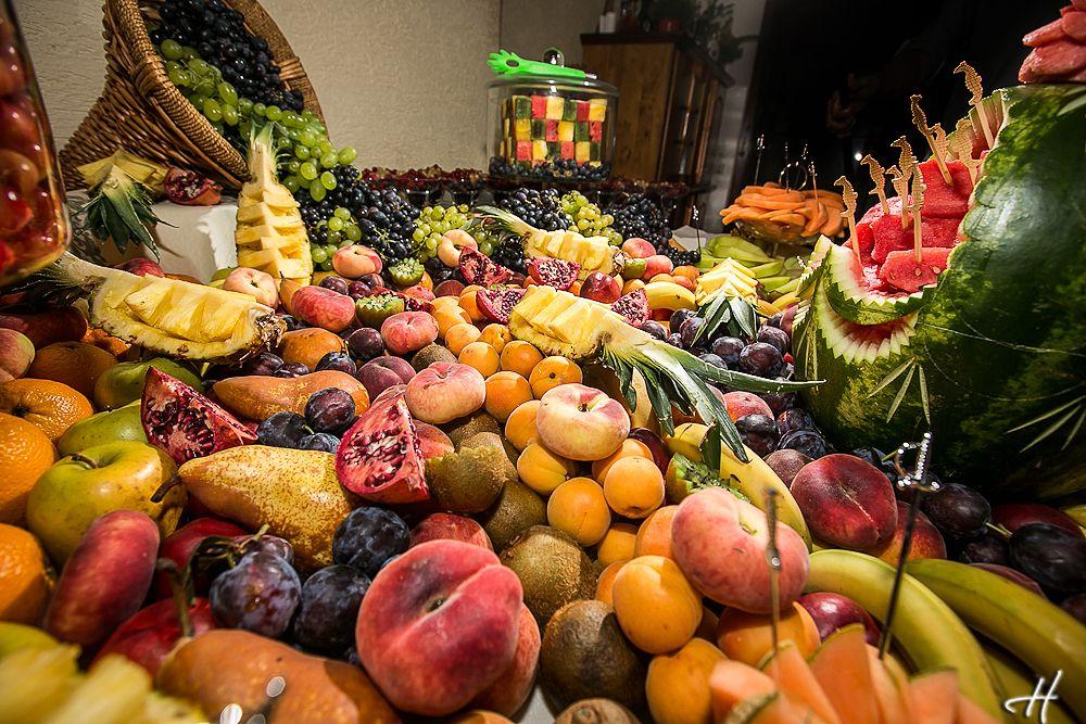 Fruits table at romanian wedding