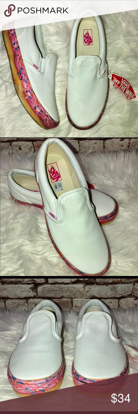46b6ab517186aa Vans Girl s Platform Skater Donut Sneakers Shoes Brand  VANS Size  Kid s 6  Description