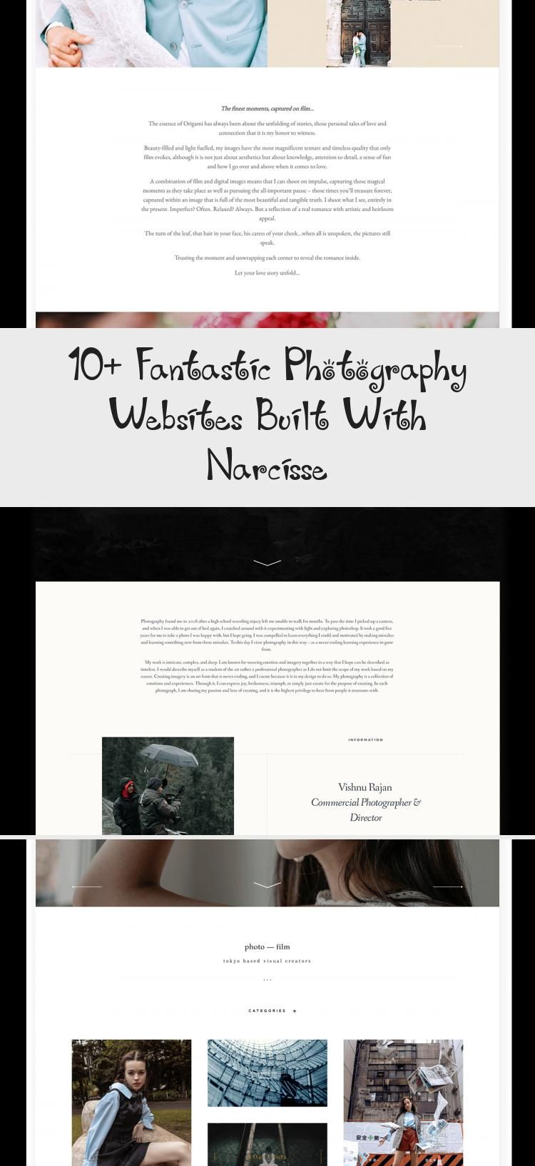 10 Fantastic Photography Websites Built With Narcisse In 2020 Photography Website Web Design School Web Design