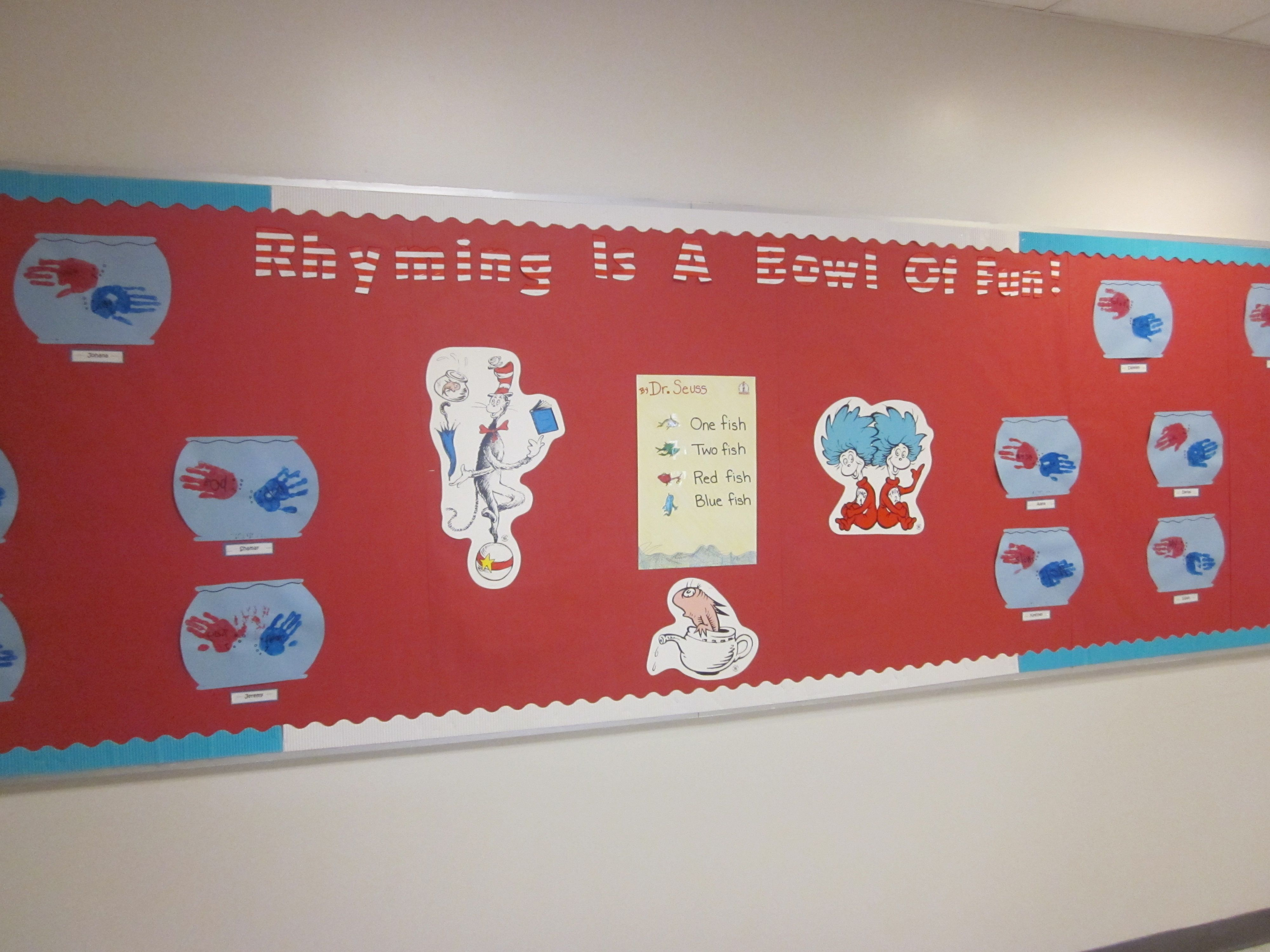 Rhyming Is A Bowl Of Fun Dr Seuss Bulletin Board For