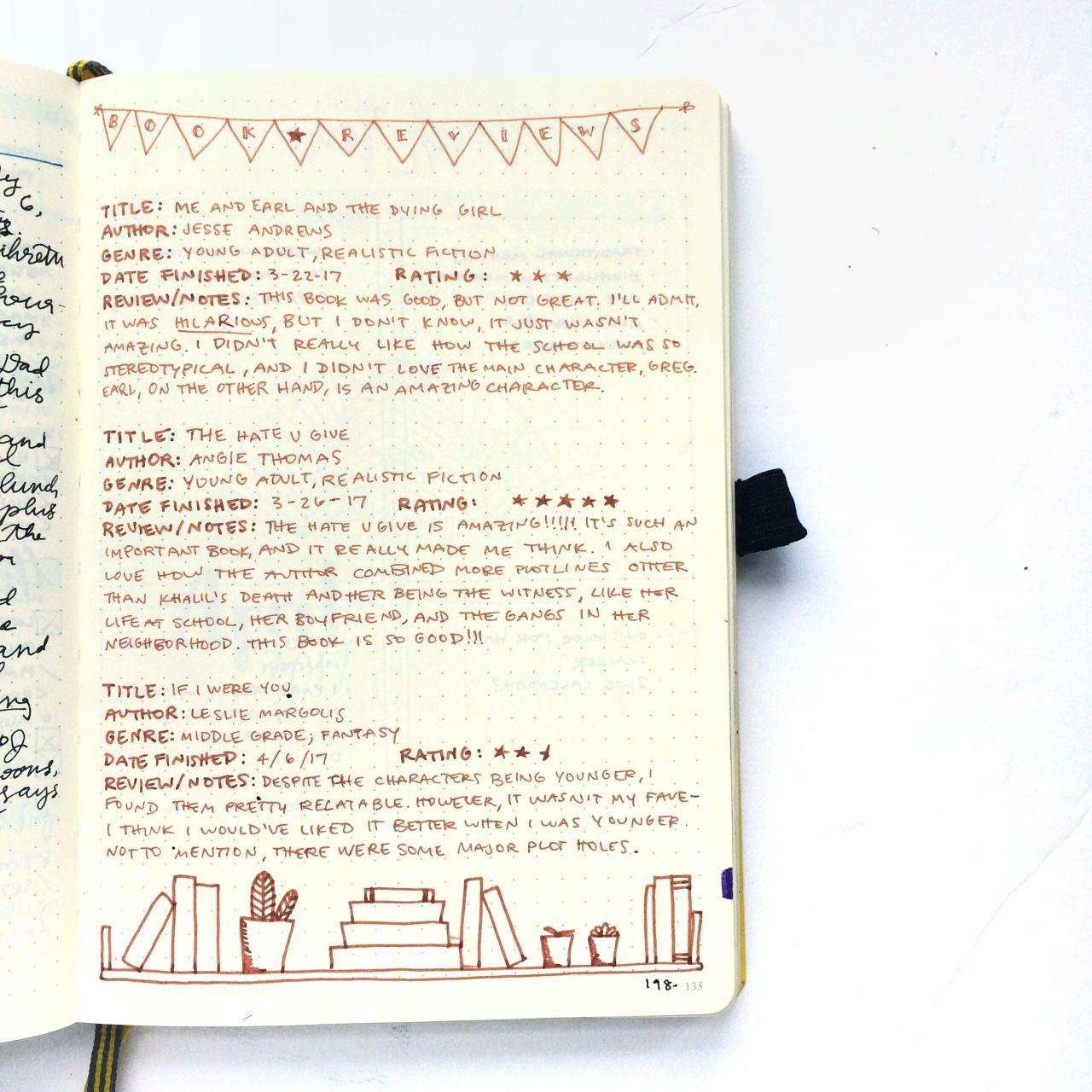 How to Track Reading in Your Bullet Journal