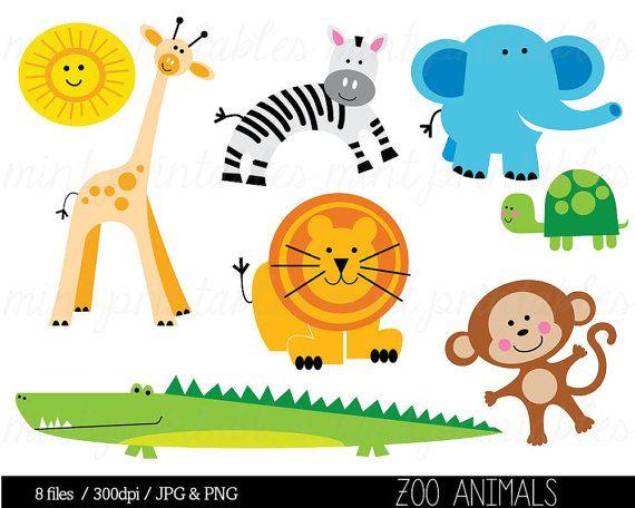 Animal Clipart Baby Animal Clipart Animal Clip Art Zoo Etsy Animal Clipart Animal Clipart Free Pictures Of Zoo Animals