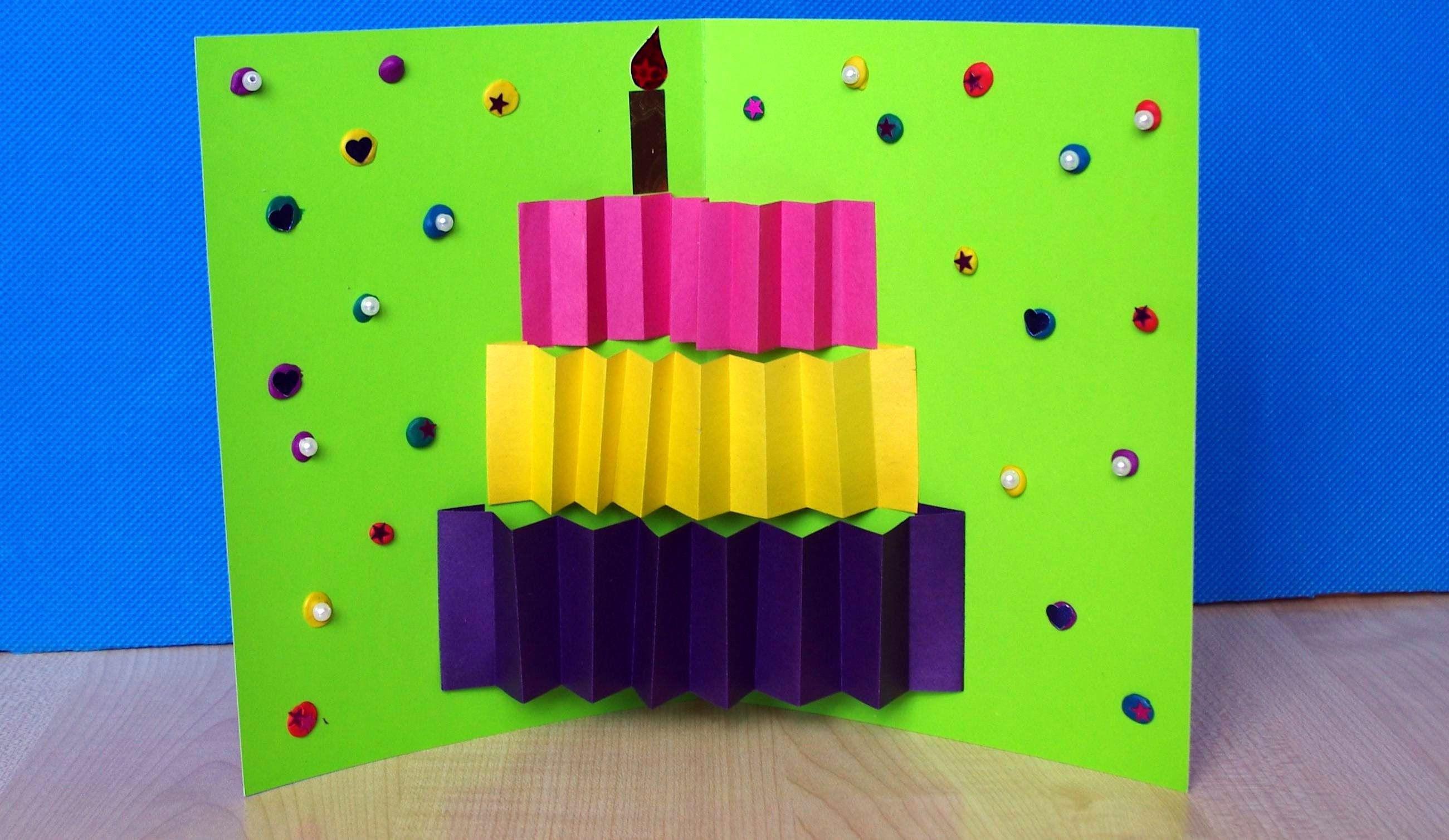 Как ребенку сделать открытку своими руками на день рождения, совершеннолетием