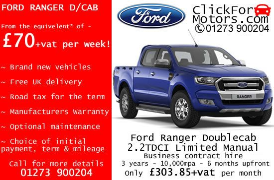 Ford Ranger Doublecab From 70 Vat Per Week On Business Contract Hire Clickformotors Com Contract Hire Ford Ranger Doublecab