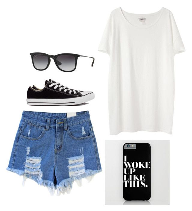 """""""Untitled #3144"""" by adi-pollak ❤ liked on Polyvore featuring Acne Studios, Converse and Ray-Ban"""