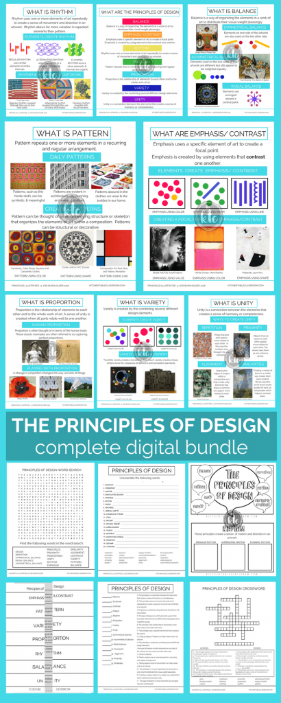 The Principles Illustrated Principles of Design Posters and