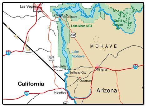 Map Of Arizonas Highways Only City Oatman Oatman Arizona - Map of california and arizona
