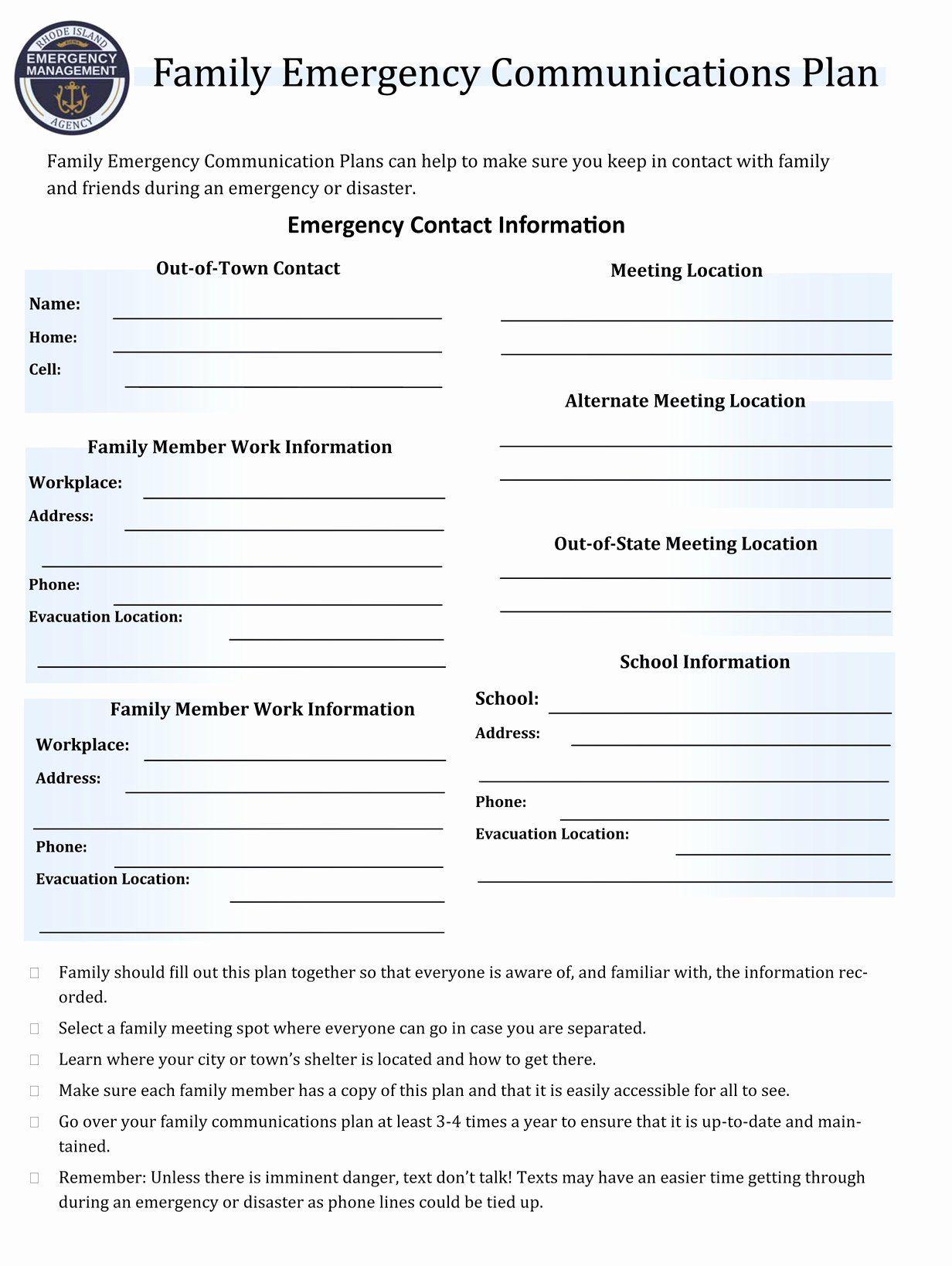 Sample Crisis Communication Plan Template In 2020 Communication