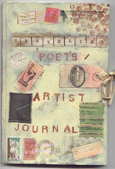 travel journal front cover art journaling and scrapbooking