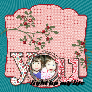 "Digital Scrapbooking with Stampin' Up's My Digital Studio.  Using the ""Twitterpated"" designer papers."