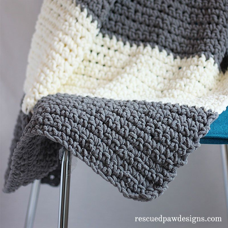 The Granite Crochet Throw Blanket a Free Crochet Pattern | Manta y ...
