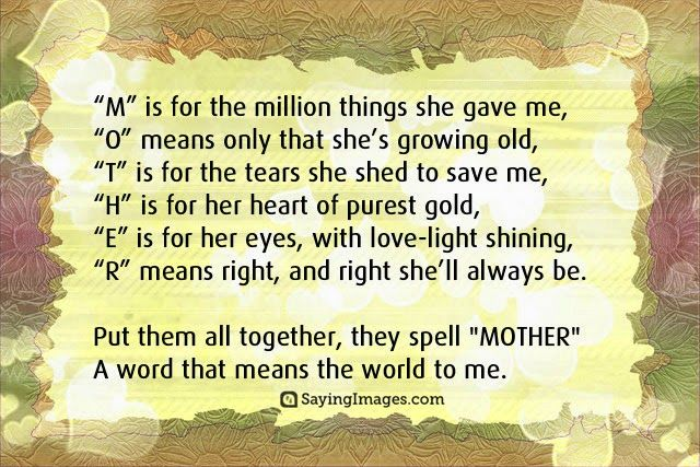 Mothers Love Quotes Happy Mother's Day Quotes Messages Poems & Cards  Happy Mothers .