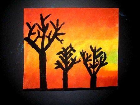 Analogous Sunset Artsonia Lesson Plan Art Artwork Art Lesson