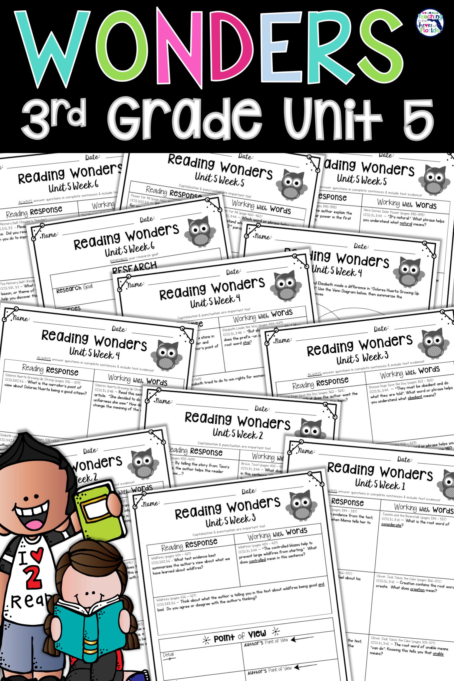 Wonders 3rd Grade Unit 5