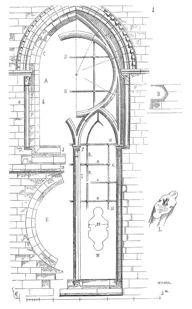 Meneaux Fenetre Notre Dame Paris 2 Arch Drawings Medieval