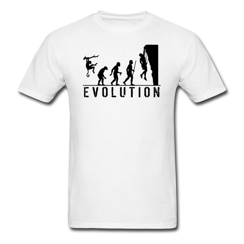 f59c75f6 A funny evolution of man t shirt design for people who love rock climbing.