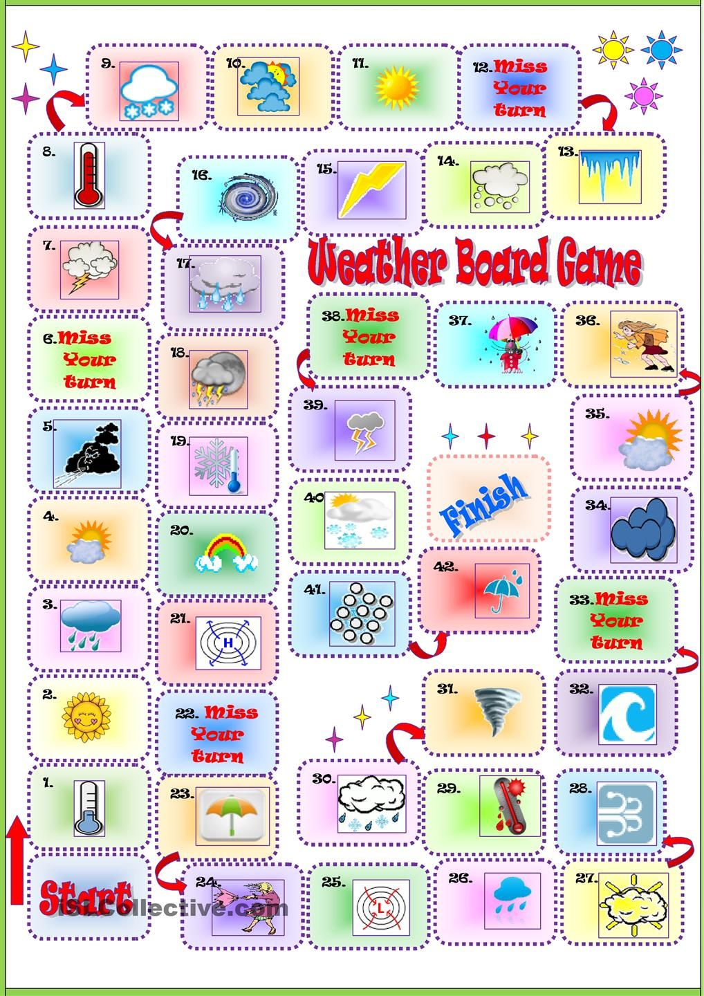 Weather Board Game Games Pinterest Juego Aprender Ingles Y