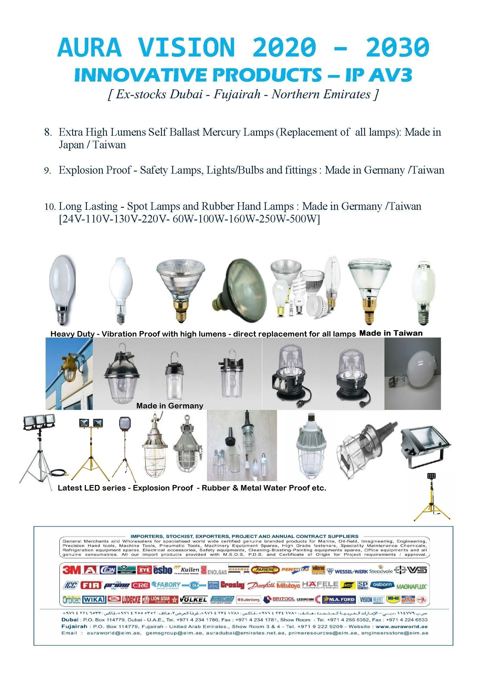 Extra High Lumens Lamps Fittings Made In Germany Made In Taiwan