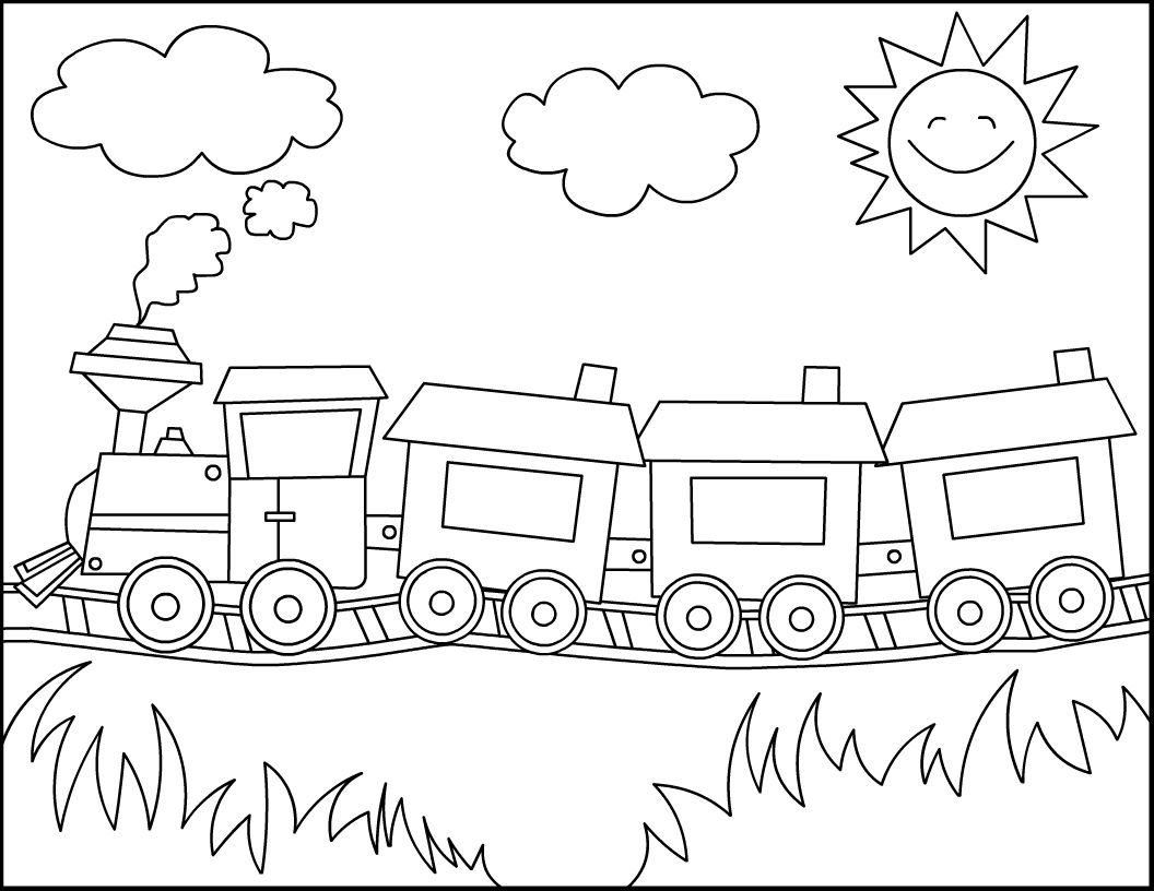 Simple Train Drawing Train Drawing For Kids Free Download Clip Art Free Clip Art Train Coloring Pages Free Coloring Pages Coloring Pages