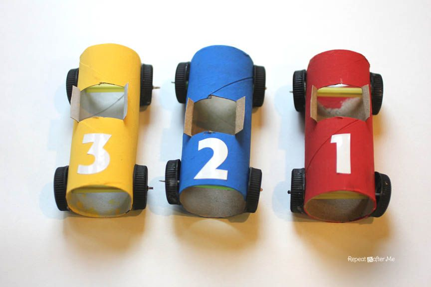 Toilet Paper Roll Race Cars - Repeat Crafter Me