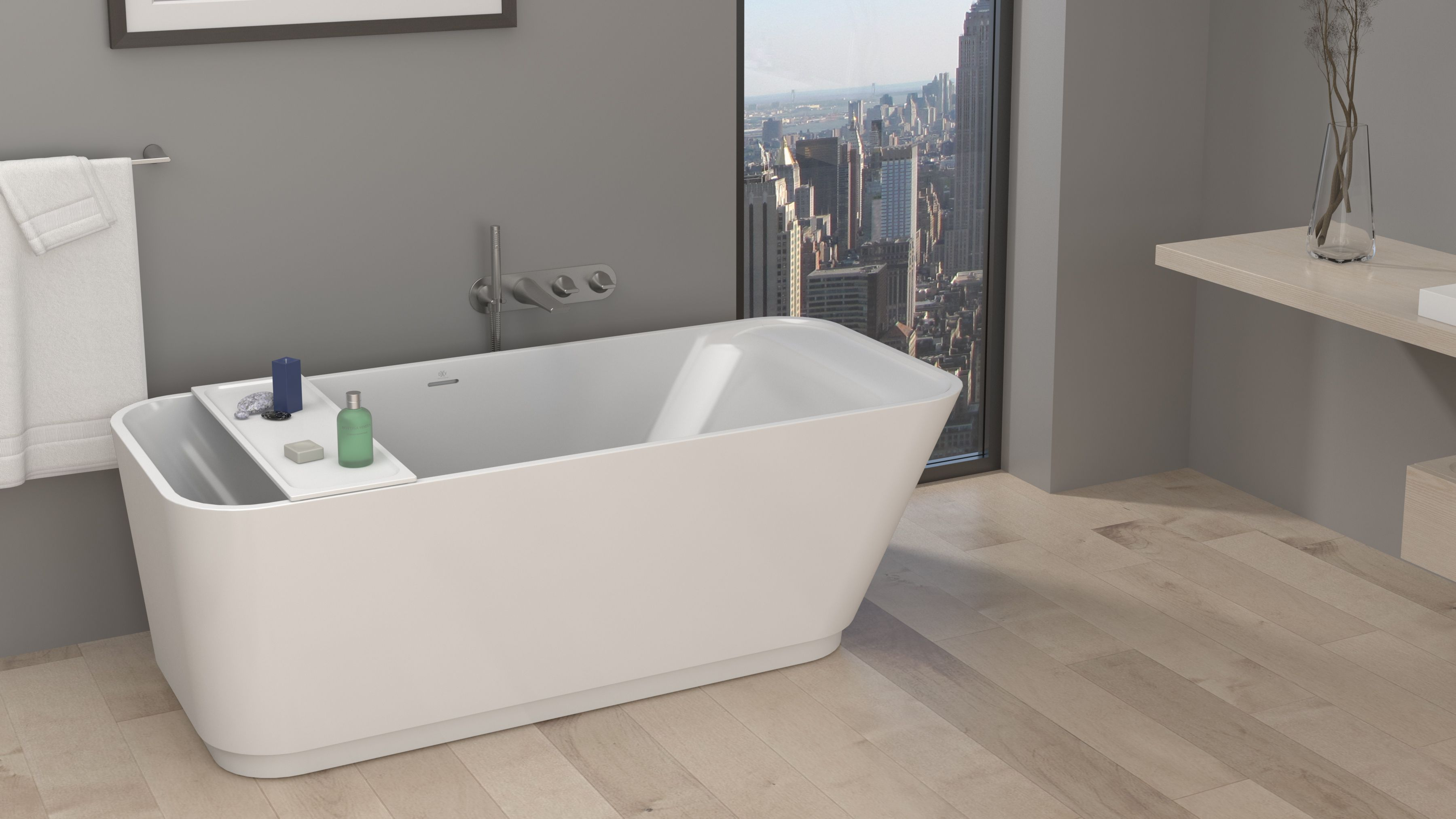Now trending: Freestanding Focus (Photo: DXV Modulus Soaking Tub