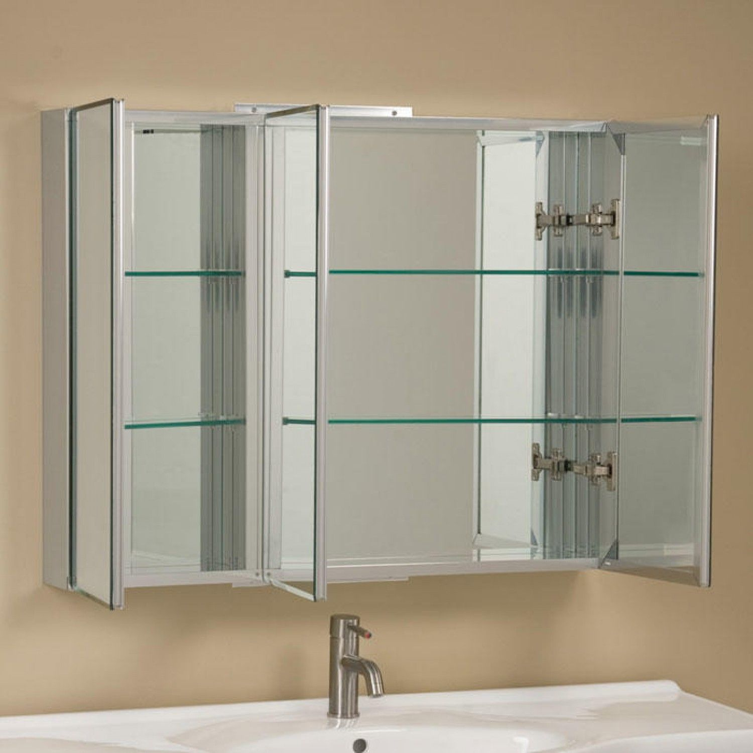 Elegant Built In Medicine Cabinet with Mirror