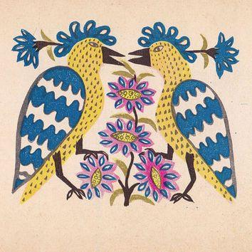 Ukraine Folk Art Bird Folk