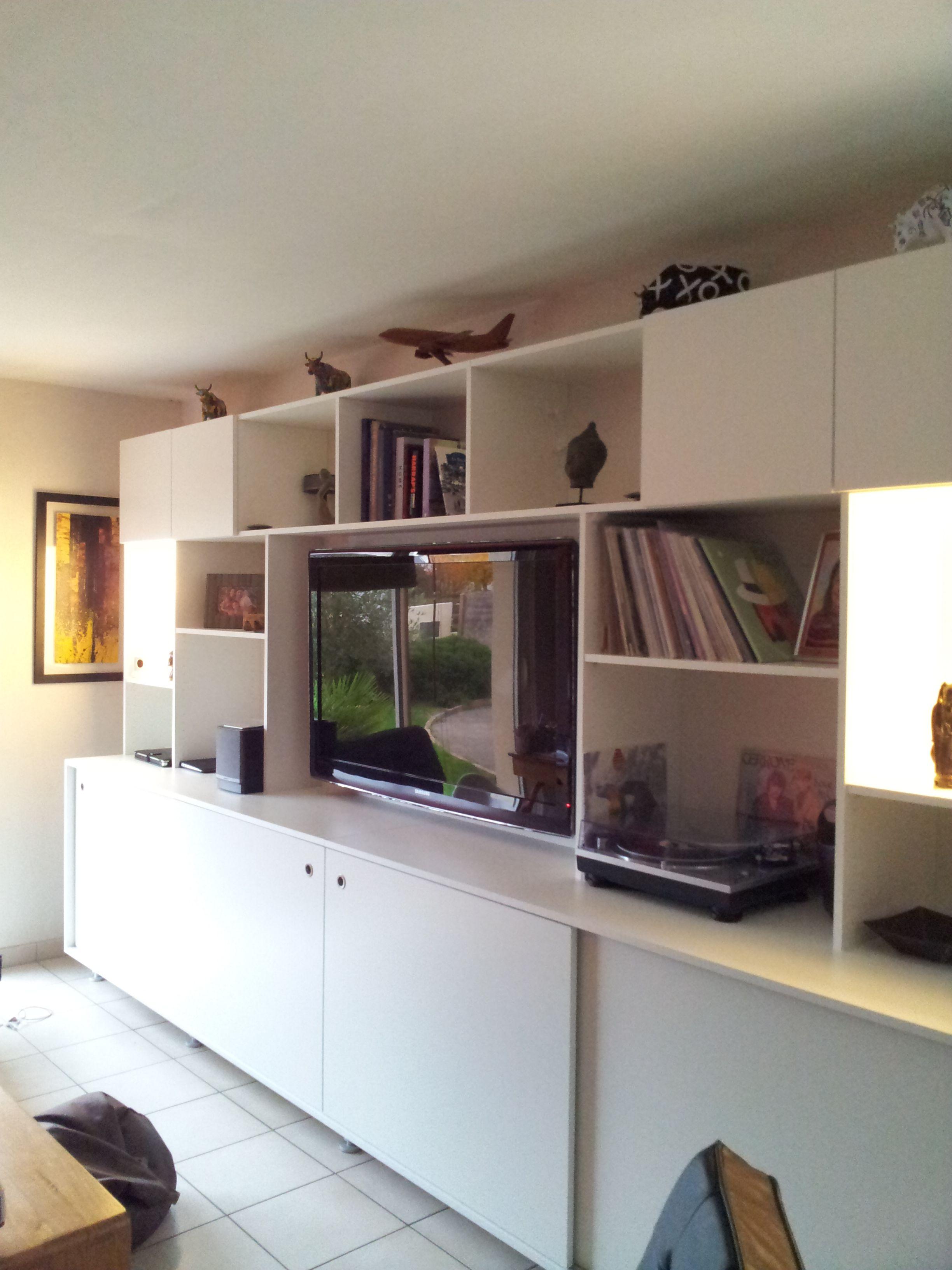 Meuble Tv Realise Par Notre Agence Antoine De Casteras A Vannes Dans Le Morbihan Architecte Interieur Decoration Interieure Meuble Tv