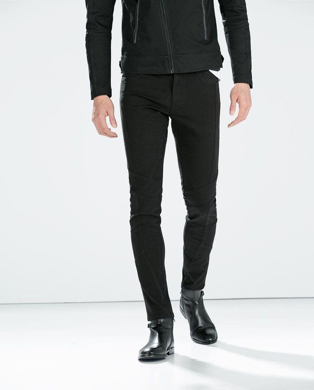 86536ec0f5 SEAMED SKINNY TROUSERS-Trousers-MAN-SALE AW.14 | ZARA United States ...