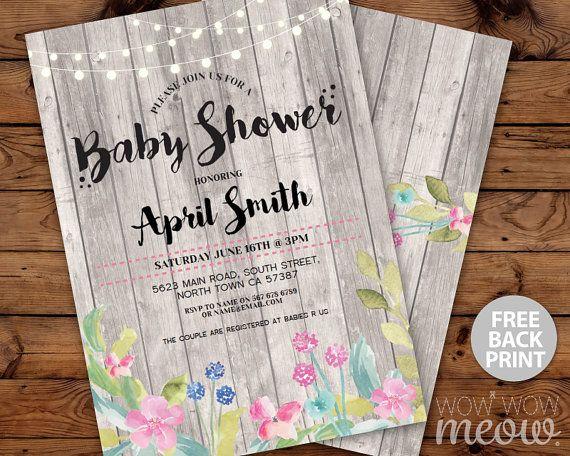Baby Shower Invitation It's a Girl Boy Invite by wowwowmeow