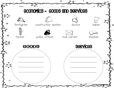 Great worksheet to teach economics for younger kids