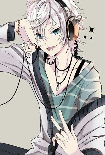 Simple and big headphones are styles for musician anime boys , so these  photos are available to be wallpapers for mobiles and desktop due to  romantic.
