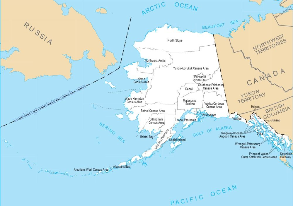 view our alaska state map a large detailed alaska state county map