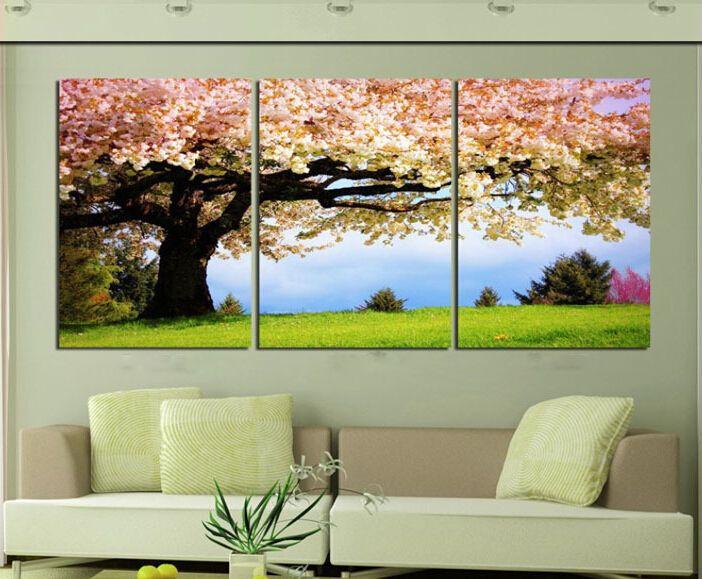 Günstige Stück Kunst öl Leinwand Romantische Wandkunst Baum Bild - Grobe bilder furs wohnzimmer