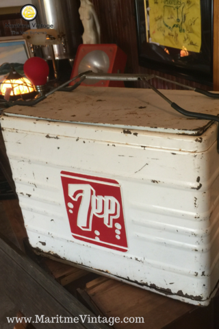 7 Up Vintage Cooler Project Idea Your Personal Home Designer Makeover |  Entryway Table Top Package