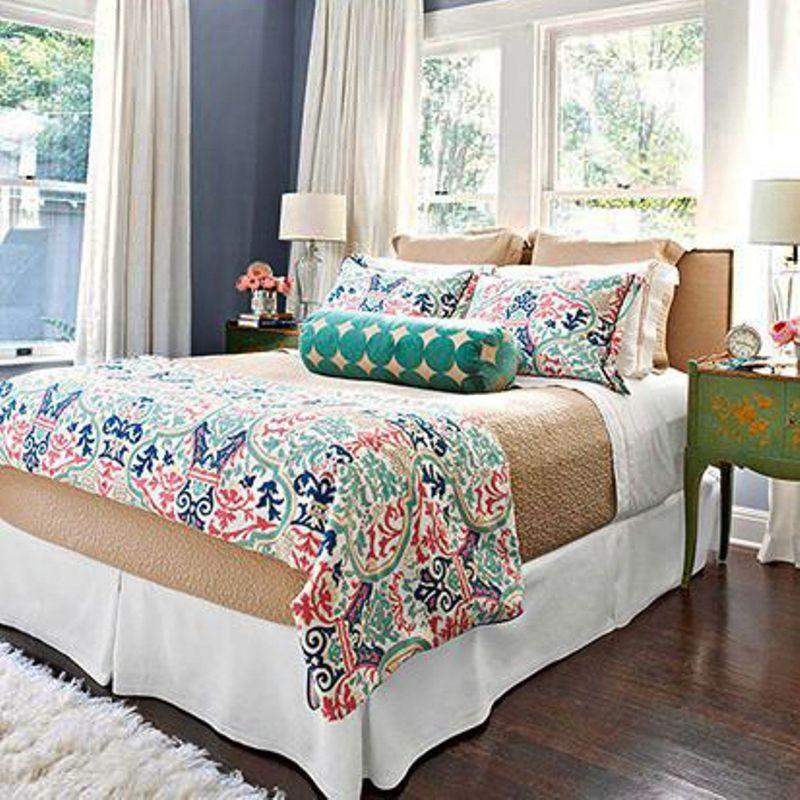 Conjunto de pie de cama m s cojines decoraci n - Decorar cama con cojines ...