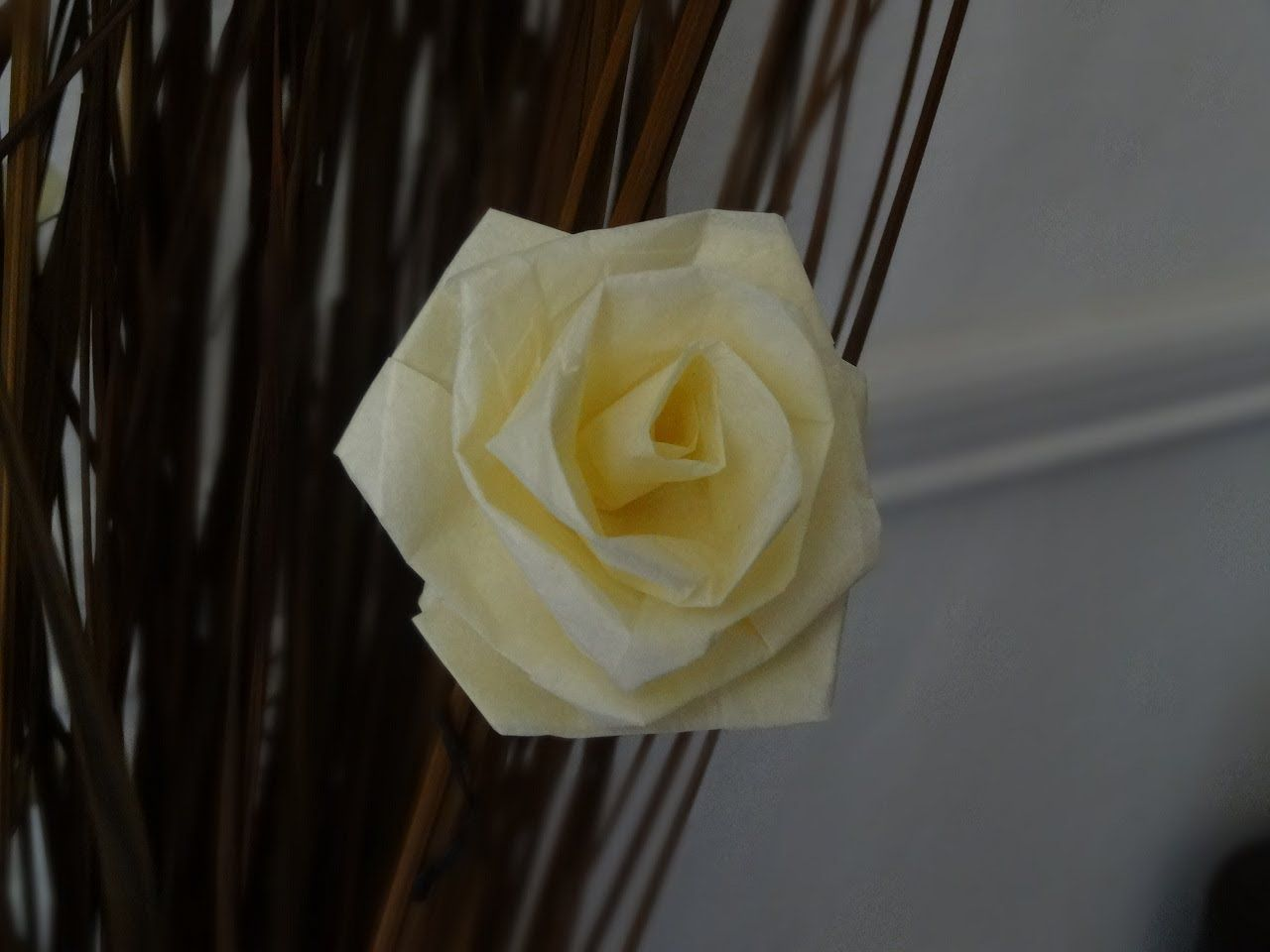 How To Make A Rose With Tissue Paper Slow Version Valentines Day