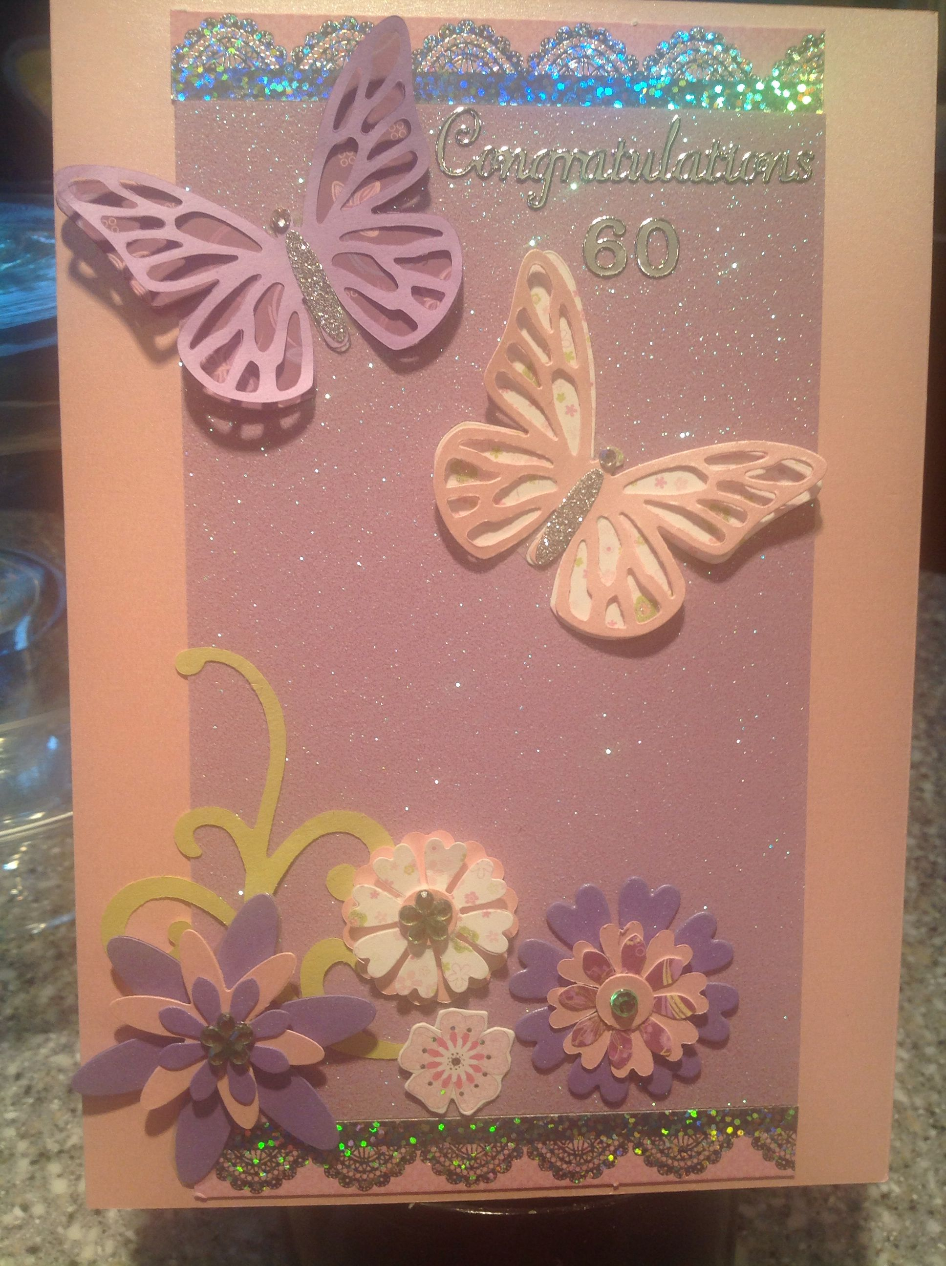 60th Birthday Card Cards Pinterest Cards Scrapbook Cards And