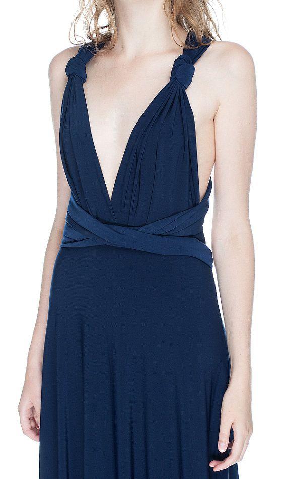 Navy Blue Bridesmaid Dress Infinity Dress Navy Blue by Dioriss
