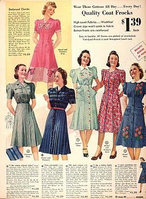 1940 Sears Catalog 1940 S Catalogs Etc 40s Fashion