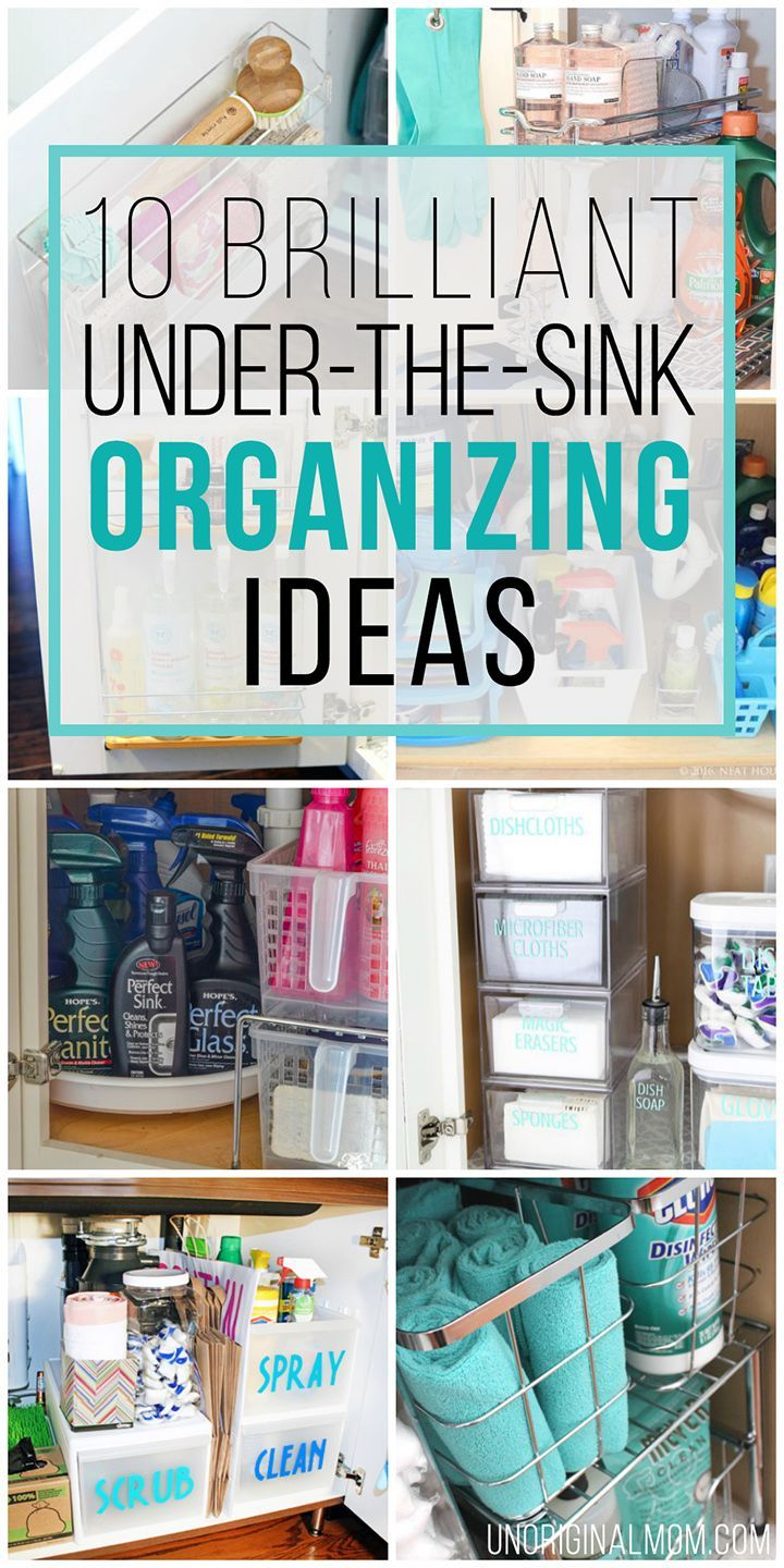 10 Brilliant Under the Sink Organization Ideas | Organizing ...