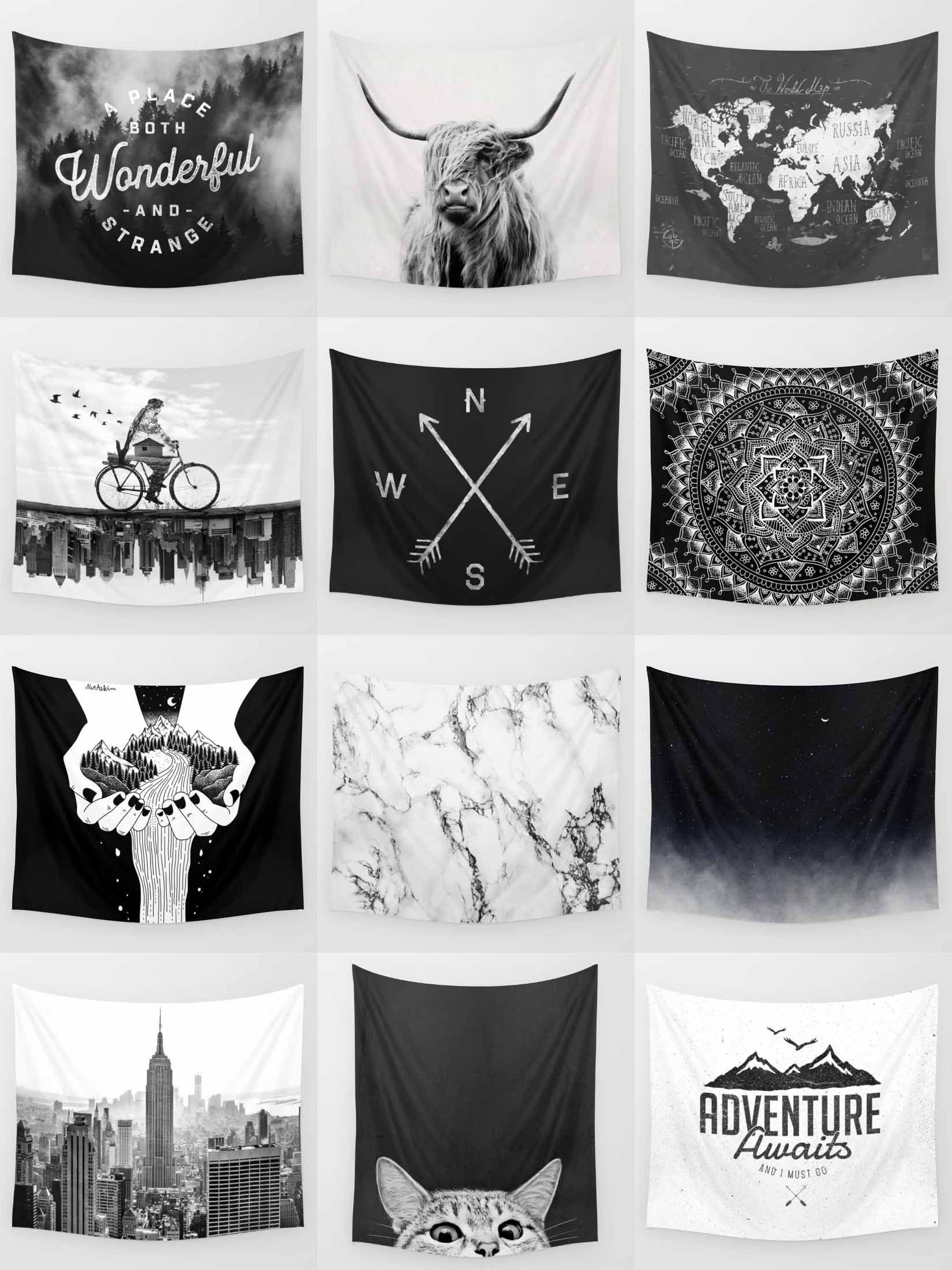 Society6 Black Amp White Tapestries Society6 Is Home To