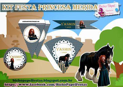 kit festa princesa merida brave valente para imprimir grátis