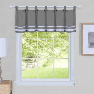 Gray Silver White Valances Kitchen Curtains You Ll Love Wayfair