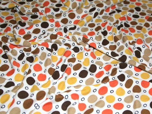 Modern Spotty Print Viscose/Lycra Jersey Designer Dress Fabric - per metre | eBay