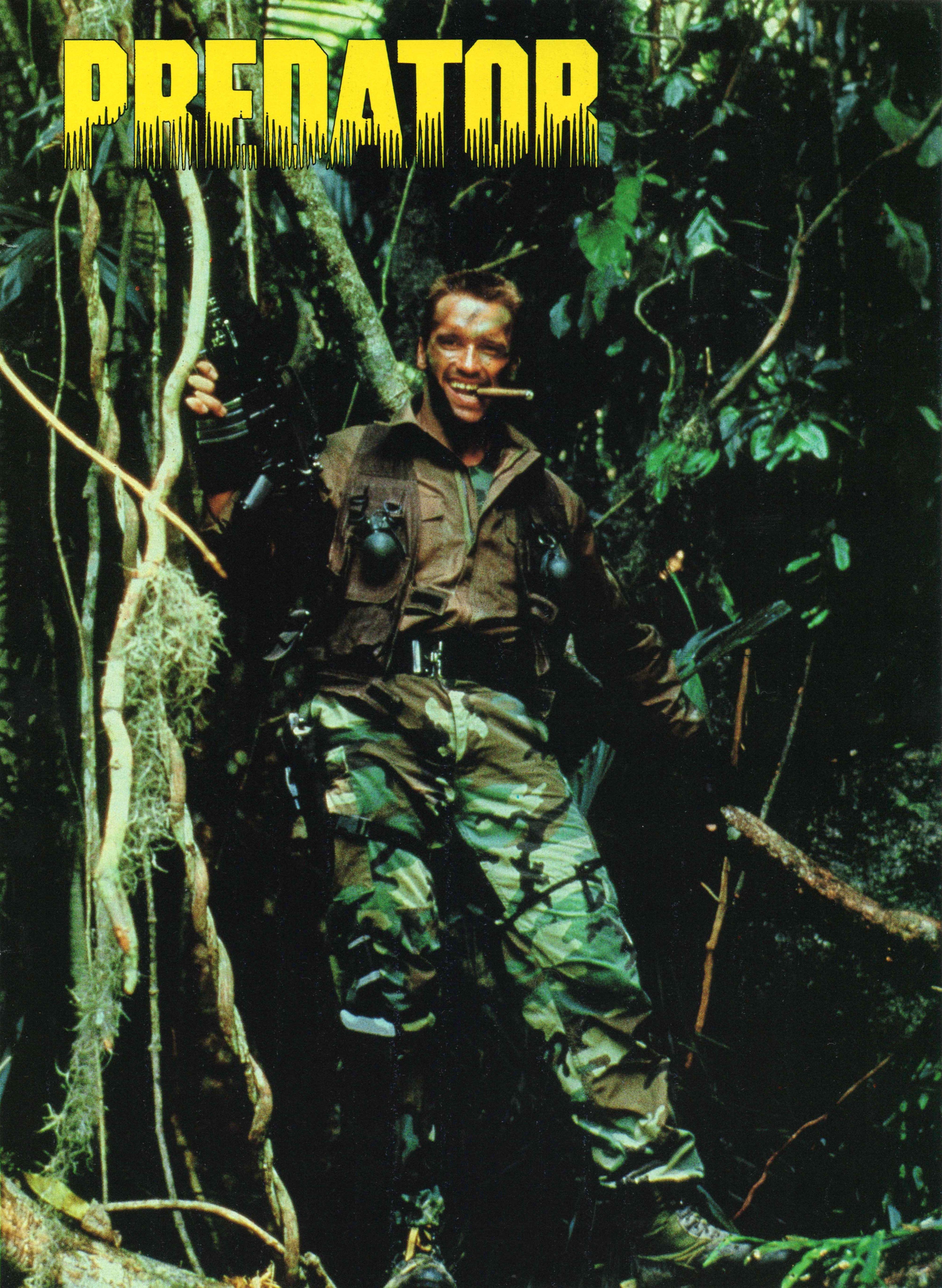 Poster Predator 1987 Arnold Schwarzenegger Photo Poster Color Predator Movie Predator Schwarzenegger